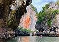 Limestone cliffs and caves in Phang Nag Bay.jpg