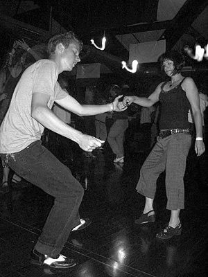 Dancing the Lindy hop in Atascadero, Californi...