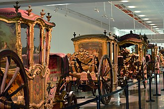 The National Coach Museum has the largest collection of royal carriages in the world and is one of Lisbon's most visited institutions Lisbon 2015 10 14 0648 (23515641921).jpg