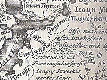 Lithuanian language in European language map 1741