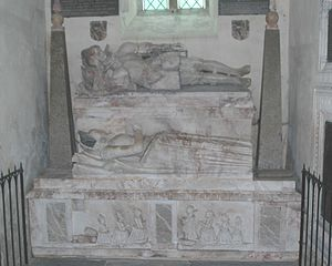 Little Wittenham - Alabaster memorial to Sir William and Lady Dunche