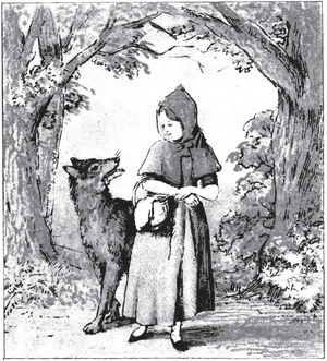 English: pg 8 of Little Red Riding Hood: an en...