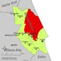Localització de Sueca respecte de la Ribera Baixa.png