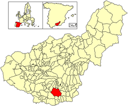 Location of Órgiva