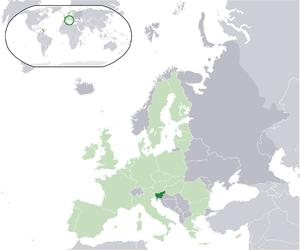 Euro gold and silver commemorative coins (Slovenia) - Image: Location Slovenia EU Europe