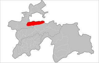 Location of Kuhistoni Mastchoh District in Tajikistan
