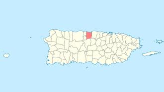 Manatí, Puerto Rico - Image: Locator map Puerto Rico Manati