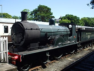 LSWR T9 class - Preserved 30120 on Bodmin and Wenford railway.