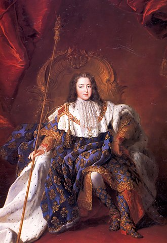 Régence - Louis XV of France in 1723; Rigaud