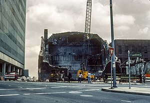 Loew's Grand Theatre - The wreckage of the Loew's Grand being demolished after the fire in 1978