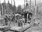 Logging crew with steam donkey engine, Cascade Timber Company, ca 1927 (KINSEY 10).jpeg