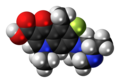 Lomefloxacin molecule spacefill.png
