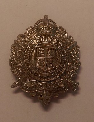 London Rifle Brigade - Cap badge of the London Rifle Brigade.