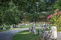 Looking N across sections D and F - Glenwood Cemetery - 2014-09-14.jpg