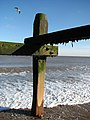 Looking out from underneath a groyne - geograph.org.uk - 677532.jpg