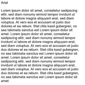 Lorem Ipsum Arial