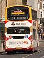 Lothian Buses bus 705 Volvo B7TL Wrightbus Eclipse Gemini SN55 BKD Harlequin livery Route 3 Club Class route branding.jpg