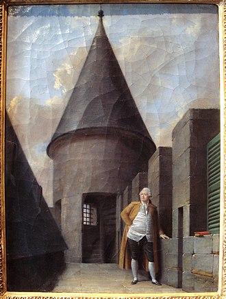 Square du Temple - Image: Louis XVI at the Tour du Temple Jean Francois Garneray 1755 1837