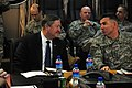 Lt. Gen. William B. Caldwell IV, commander NATO Training Mission - Afghanistan, talks with the Honorable Michael Donley (4330633690).jpg
