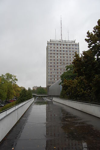 Maria Curie-Skłodowska University - The main building of Marie Curie University as viewed from Sowińskiego St.