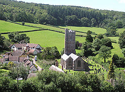 Looking down on the village