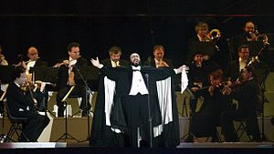 2006 Winter Olympics opening ceremony - Luciano Pavarotti singing Nessun dorma, on his last public performance before his death