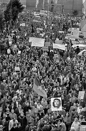 German student movement - Protest against the Vietnam War in West Berlin in 1968