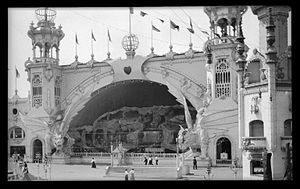 Luna Park, Coney Island (1903) - The Dragon's Gorge at Luna Park. The ride caught fire in 1944, ultimately leading to the closing of the park two years later.