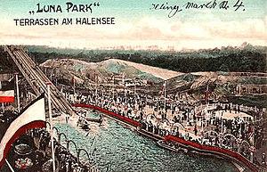 Luna Park, Berlin - Luna Park Water Slide, 1904