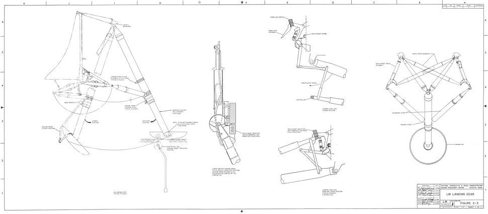 Lunar Module Landing Gear plans