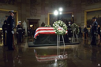 Death and state funeral of Gerald Ford - Gerald Ford's remains lie in state in the United States Capitol rotunda