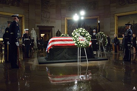 Ford lying in state in the Capitol rotunda Lying in State - President Gerald Ford (8288035735).jpg