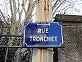 Lyon 6e - Rue Tronchet - Plaque (fév 2019).jpg