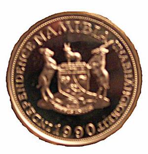 Namibian dollar - 10 marks essai (reverse)