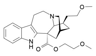 2-Methoxyethyl-18-methoxycoronaridinate - Image: ME 18 MC structure