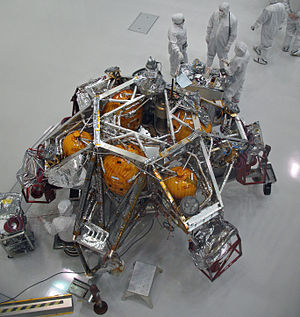Mars landing - Here is the MSL descent stage under construction back on Earth