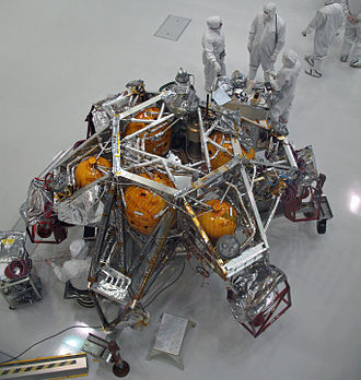 Mars landing - The MSL Descent Stage under construction on Earth