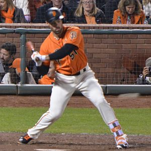Mac Williamson - Williamson batting for the San Francisco Giants in 2016