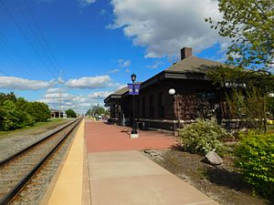 Macomb station - The Macomb station in May 2017.
