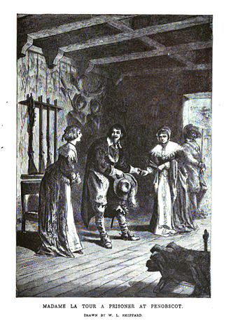"""Françoise-Marie Jacquelin - """"Madame La Tour a Prisoner at Penobscot"""", by W L Sheppard"""