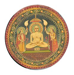 1=Painting of Mahavira (small painting, Rajasthan Dated 1900)from personal collection of Photos of Jules Jain