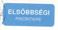 Mail label of Magyar Posta - Elsőbbségi.png