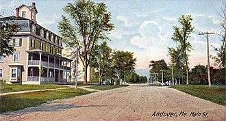 Andover, Maine - Main Street c. 1906