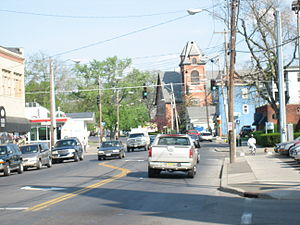 New York State Route 17C - NY 17C (Main Street) at Chestnut Street in Binghamton