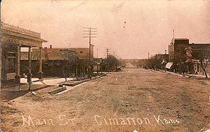 Cimarron, Kansas - Main Street (1914)