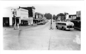 Main Street of Gloster, Mississippi, 1948.png