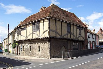 Faversham - The Maison Dieu sits to the south of the town centre on the A2 and houses artefacts from Roman Britain.