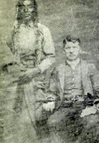 Major Israel McCreight - Major Israel McCreight and Chief Little Shell, Devils Lake, Dakota Territory, 1885