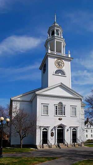 Manchester-by-the-Sea, Massachusetts - The First Parish Church in central Manchester-by-the-Sea