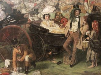 The Derby Day - Detail from the Manchester version (lower right corner)
